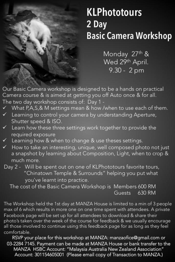 MANZA Basic Camera Course April